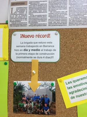 on the news board in Costa Rica